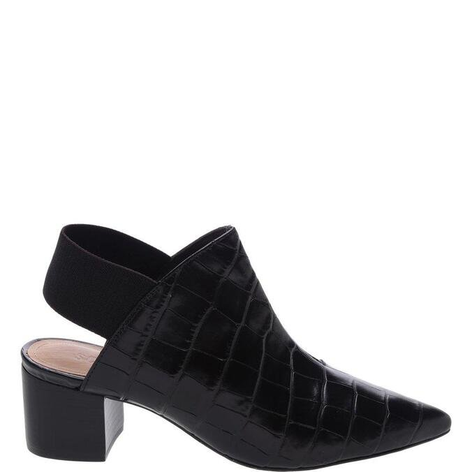 Mule Schutz Back Stretch Croco Black