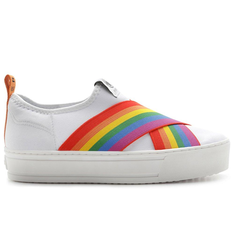 Tênis Fiever Branco Malibu Slip On Neoprene Rainbow