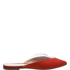 Flat Schutz Mule Crystal Red