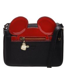 Disney Arezzo | Bolsa Tiracolo Pequena Mickey Preto e Royal Red