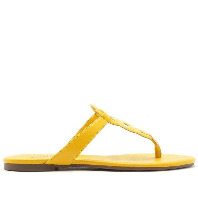 Rasteira Anacapri Aros Amarela