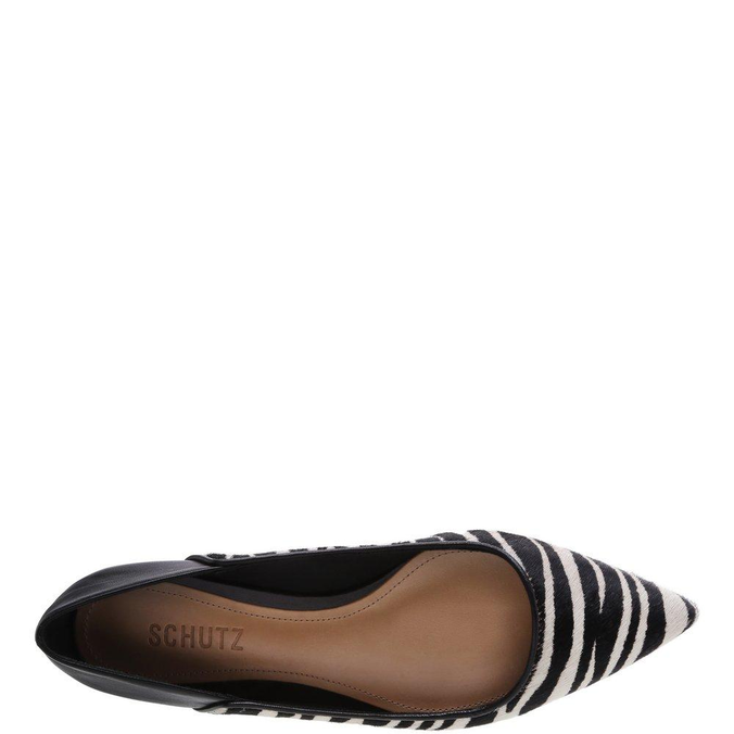Sapatilha Schutz Bico Fino Zebra Studs