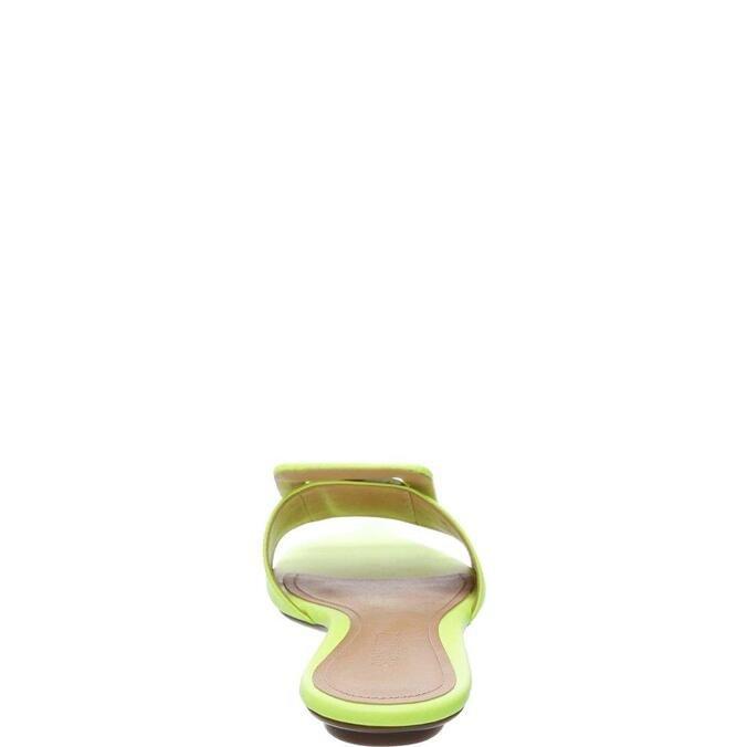 Flat Schutz Fivela Neon Yellow