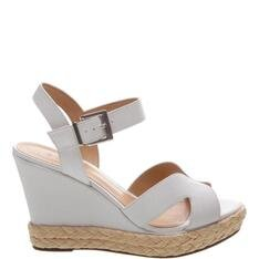 Sandália Schutz Anabela Leather White