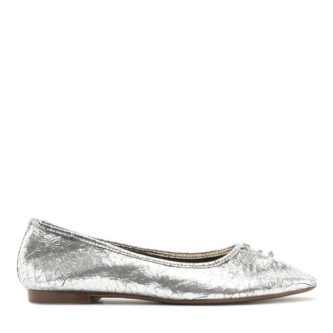 Sapatilha Schutz Ballerina Metalic Silver