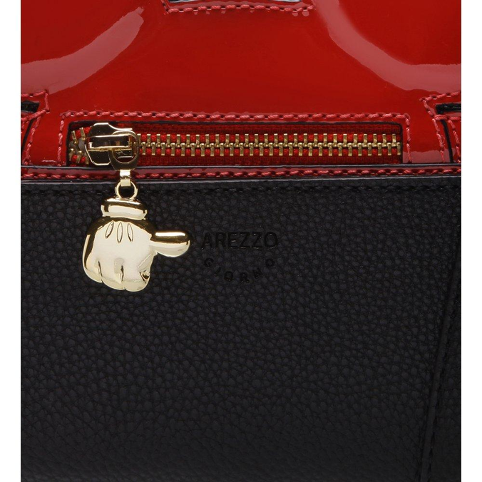 Disney Arezzo | Bolsa Tiracolo Pequena Mickey Preto e Royal Red