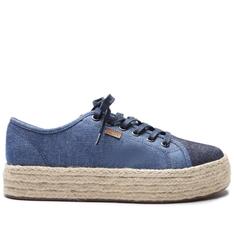 Tênis Anacapri Bia Flatform Jeans Bicolor