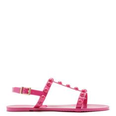 Rasteira Arezzo Injetado Bico Redondo Aplicações Resina Summer Pink