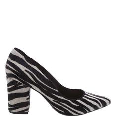 Scarpin Schutz Block Heel Zebra