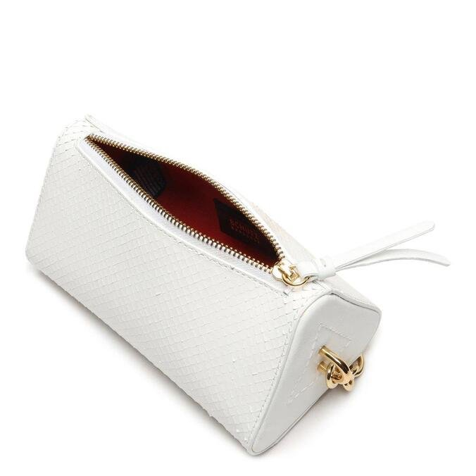Mini Schutz Crossbody Alanis Snake White