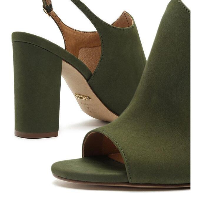 Sandal Arezzo Boot Verde Nobuck Bloco Romantic