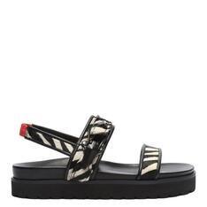 Sporty Schutz Sandal Flatform Zebra Preto e Branco