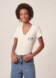 T-Shirt Malha Estampa Lucky Charm MOB