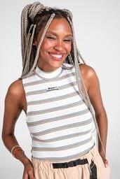 Cropped Baw  Stripes White