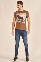 Camiseta Acostamento Casual Wolf