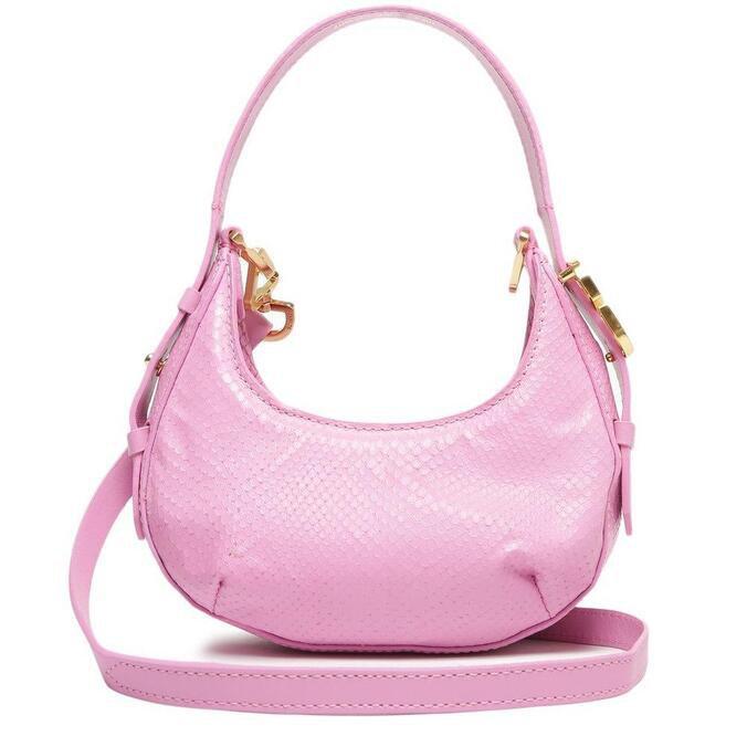 Bolsa Tiracolo Shoulder Bag Couro Rosa
