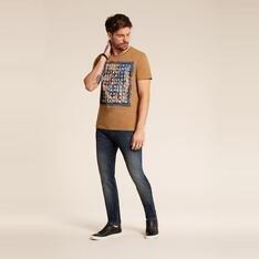 Camiseta ACOSTAMENTO manga curta estampa lettering