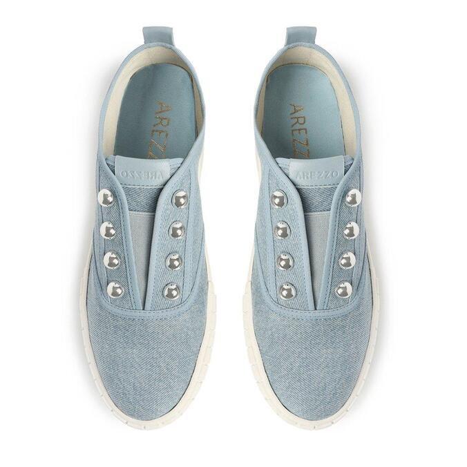 Slip Arezzo On Azul Jeans Flatform
