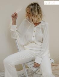 Camisa Morcego Carmem Off White Lofty Style