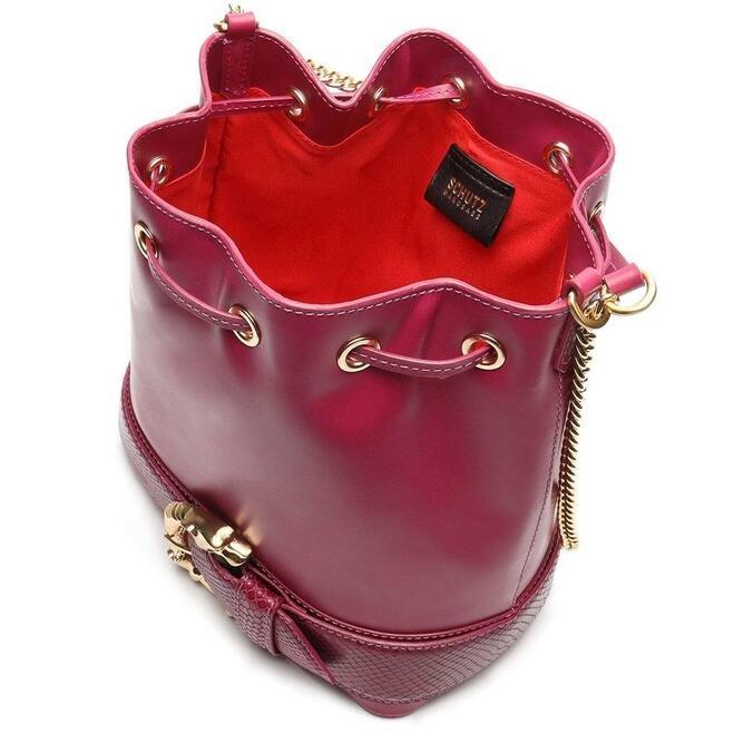 Bolsa Schutz Tiracolo Bucket Grande Fierce Pink