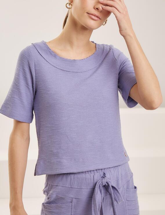 Blusa Quadrada Yara Lilás Lofty Style