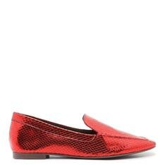 Loafer Schutz Metallic Snake Red
