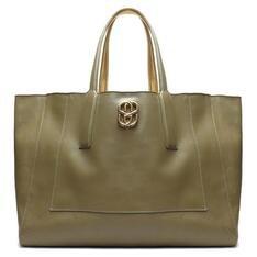 Shopping Schutz Bag Double Face Green/Gold