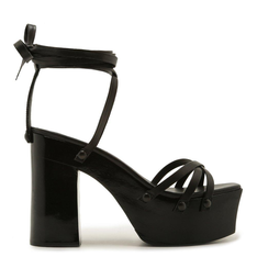 SANDÁLIA Schutz STRINGS LACE-UP BOLD BLACK