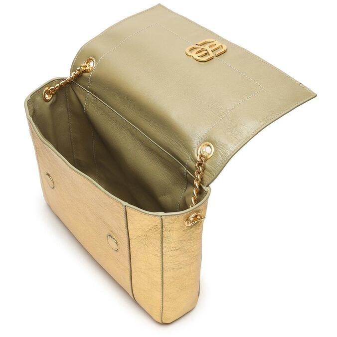 Shoulder Schutz Bag Double Face Green/Gold