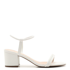 Sandália Schutz Block Heel Strings White