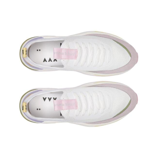 Tênis Branco Multicolor Beat Slip On Fake Lace Masculino