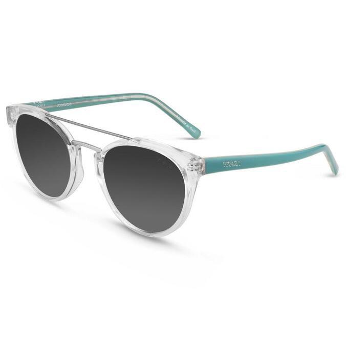 Óculos de Sol Gatinho em Aço e Acetato Transparente e Azul by Vivara