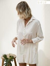 Camisa Long Josefa Natural Lofty Style