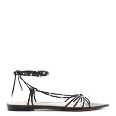 Flat Schutz Strings Lace-Up Studs Black