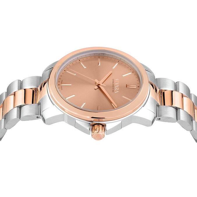 Relógio Vivara Feminino Aço Prateado e Rosé - DS14161R0A-1 by Vivara
