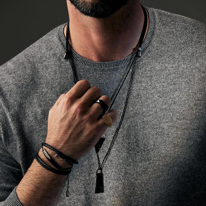 Anel Key Design Flat - Black