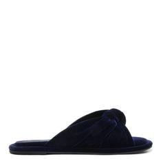 Homewear Schutz Flat Flip Flop Sarah Velvet Sailfish
