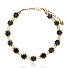 Chocker Cristal Winter Claudia Arbex Ouro Vintage