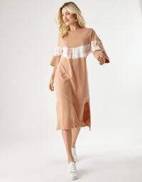 Vestido Zinzane Moletom Tie Dye Maxi