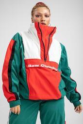 Track Jacket Baw Sportswear Green