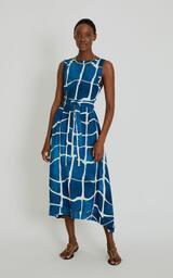 Vestido Lenny Niemeyer Viscose Decote Movimento