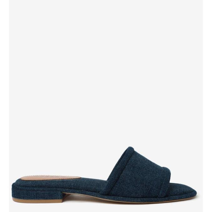 Rasteira Arezzo Jeans Com Palmilha Acolchoada