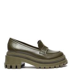 Sapato Schutz Mocassim Tratorado Couro Triangle Verde-Militar