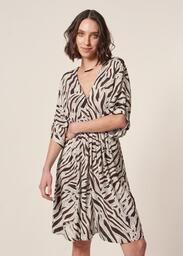 Vestido MOB Manga 3/4 Estampa Zebra