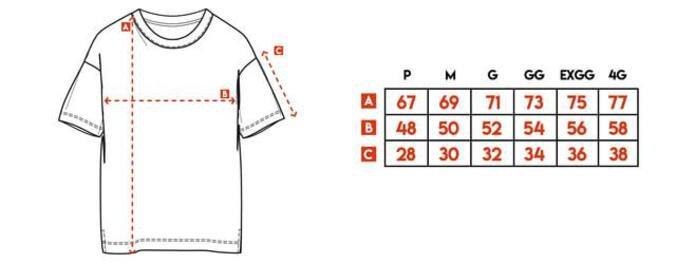 Camiseta New Basic Canoa Preta a Fio Red Feather