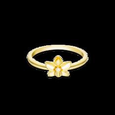 Anel Life Flor Orquídea Com Banho Ouro Amarelo by Vivara
