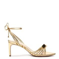 Sandália Schutz Cube Lace-Up Glam Gold