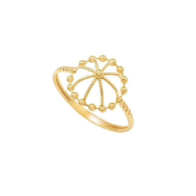 Anel Ouro Amarelo 18K - Casual - CL Joias