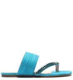 Sandália Schutz Rasteira Glam Bright Blue