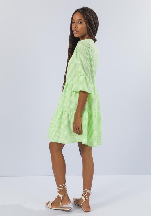 Vestido Amplo com Decote Quadrado Verde MYFT